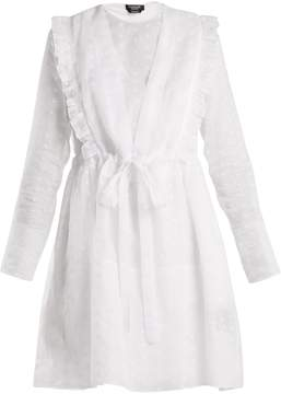 Calvin Klein Broderie-anglaise cotton-organza dress