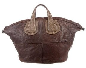 Givenchy Ostrich Leg-Trimmed Nightingale Satchel