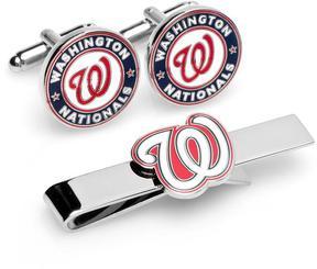 Ice Washington Nationals Cufflinks and Tie Bar Gift Set