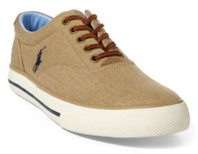 Ralph Lauren Vaughn Washed Twill Sneaker Morgan Tan 15