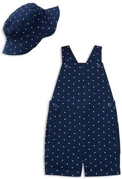 Ralph Lauren Boys' Seersucker Star-Print Overalls & Hat Set - Baby