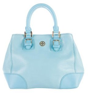 Tory Burch Pebbled Leather Satchel - BLUE - STYLE
