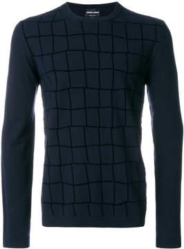 Giorgio Armani checked sweater