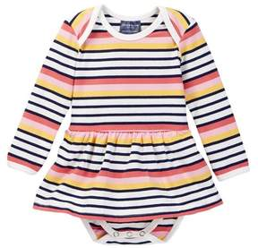 Toobydoo Suunto Striped Ballerina Bodysuit (Baby Girls)