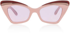 Karen Walker Babou Blush Cat-Eye Acetate and Metal Sunglasses