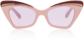 Karen Walker Babou Blush Cat-Eye Acetate and Metal Sunglasses