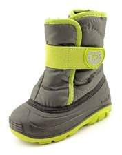 Kamik Snowbug 3 Toddler Round Toe Canvas Gray Snow Boot.