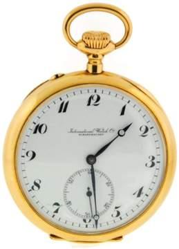 IWC 18K Yellow Gold Pocket Vintage Manual Wind Watch