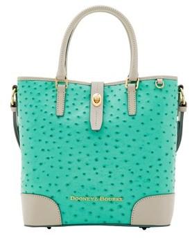Dooney & Bourke Ostrich Medium Cayden Top Handle Bag. - MINT LIGHT GREY - STYLE