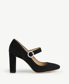 Ann Taylor Elaine Suede Mary Jane Pumps