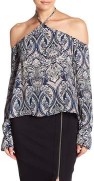 Cupcakes And Cashmere Akasha Patterned Cold Shoulder Blouse