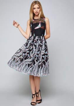 Bebe Madison Embroidered Dress