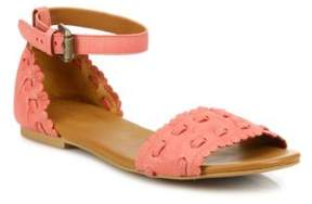 See by Chloe Jane Whipstitch Leather Ankle-Strap Sandals