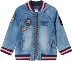 Mayoral Lightwash Denim Bomber Jacket