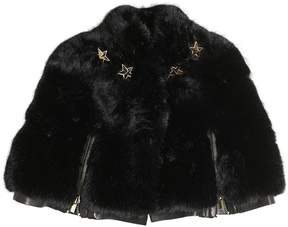 Givenchy Faux Fur & Nappa Leather Cape