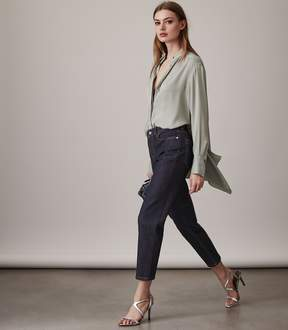 Reiss Raven Straight-Leg Cropped Jeans
