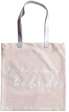 Rosanna Here Comes The Bride Canvas Tote - White