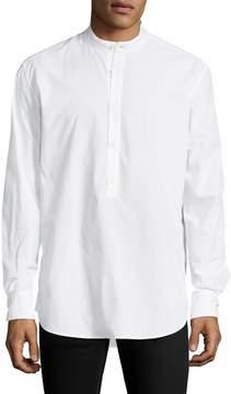 BLK DNM Men's 8 Mandarin Collar Sportshirt