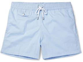 Hartford Slim-Fit Mid-Length Striped Seersucker Swim Shorts