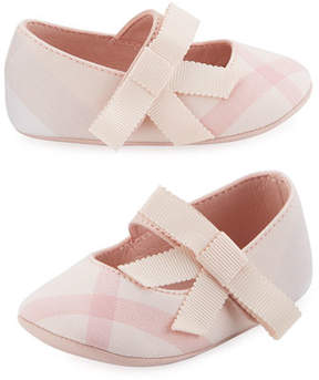 Burberry Stark Check Mary Jane, Pink, Infant