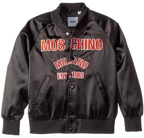 Moschino Kids Jacket w/ Logo on Front Boy's Coat