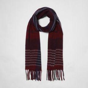 River Island Womens Dark red check scarf