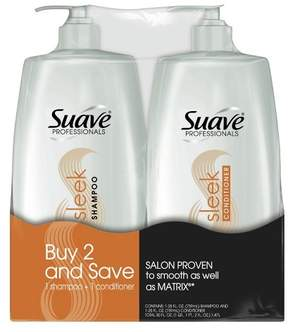 Suave Professionals Sleek Shampoo and Conditioner 28oz,pk of 2