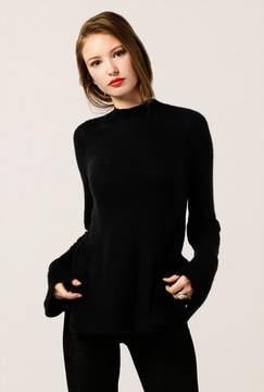 Azalea Fuzzy Mock Neck Long Sleeve Sweater