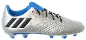 adidas Kids' Messi 16.3 Firm Ground Soccer Shoe (Little Kid/Big Kid), Silver Metallic/Black/Shock Blue, 5.5 M US Big Kid