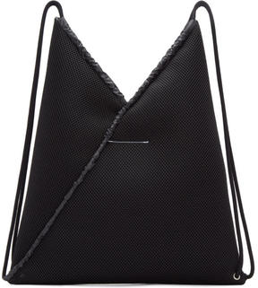 MM6 MAISON MARGIELA Black Mesh Drawstring Backpack