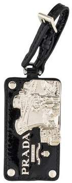 Prada Patent Leather Ship Keychain