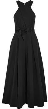 Temperley London Blueberry Cutout Cotton-blend Twill Jumpsuit - Black