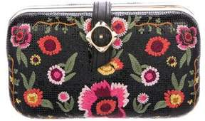 Alice + Olivia Embroidered Box Clutch