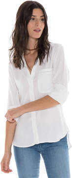 Bella Dahl Eyelet Button Down -White-XS