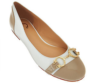 C. Wonder As Is Leather Ballet Flats with Hardware - Elizabeth