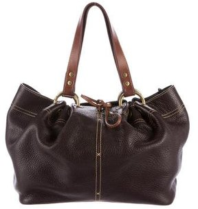 Mulberry Grained Leather Shoulder Bag