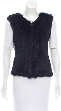 Rene Lezard Knitted Fur Vest