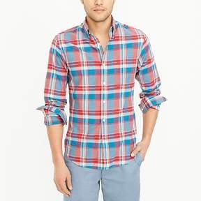 J.Crew Mercantile Slim madras shirt