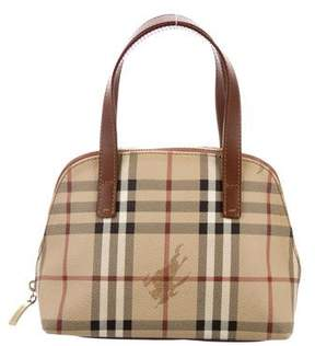 Burberry Haymarket Handle Bag