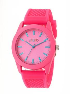 Crayo Storm Collection CRACR3706 Hot Pink Analog Watch