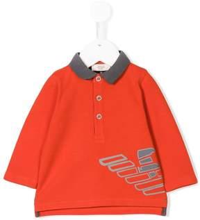 Emporio Armani Kids printed polo top