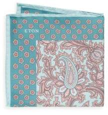 Eton Paisley-Print Silk Pocket Square