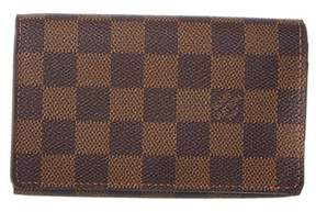Louis Vuitton Damier Ebene Canvas Tresor Wallet. - BROWN MULTI - STYLE