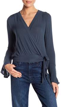 Lush Ballet Front Long Sleeve Blouse
