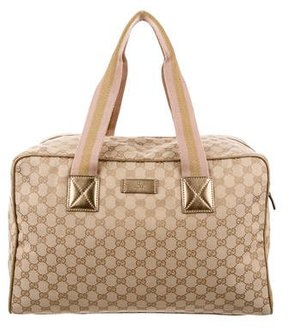 Gucci GG Canvas Duffle Bag - BROWN - STYLE