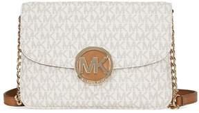Michael Kors Flap Gusset PVC Crossbody - Vanilla - BEIGE - STYLE