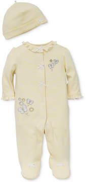 Little Me 2-Pc. Hat & Footed Butterfly Coverall Set, Baby Girls (0-24 months)
