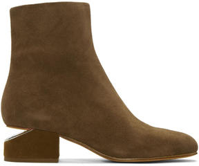 Alexander Wang Tan Suede Kelly Boots