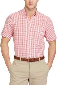 Chaps Men's Classic-Fit Tattersall Checked Easy-Care Button-Down Shirt