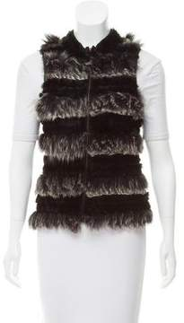 Adrienne Landau Zip-Up Rabbit Vest